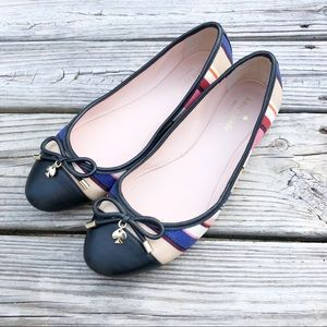 Kate Spade Striped Wooster Flats